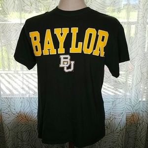 Baylor University T shirt Size Medium Green Bin14